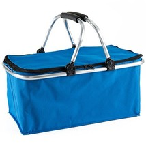 Gregarder Picnic Basket Collapsible Shopping Folding Insulated Bag Large... - $380,60 MXN