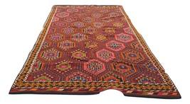Turkish handwoven decorative kilim rug. Wool area rug. Living area rug, ... - $550.00