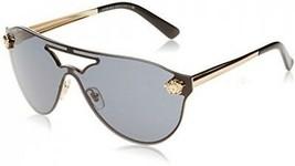 Authentic Italy Versace Womens Fashion Sunglasses Eyewear Shades Gold/Grey - $208.09