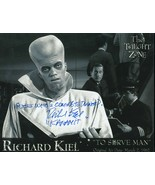 Richard Kiel signed Twilight Zone photo.Guess Who's Coming To Dinner? Bo... - $21.95