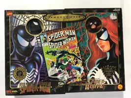 "1998 Marvel Comics Famous Cover Spider Man & Spider Woman 8"" Ultra Figures Ltd - $41.15"