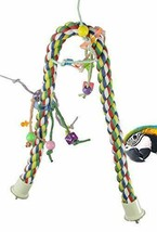 Bonka Bird Toys Large Huge Medium Rope Charm Perch Bird (Huge Rope Charm... - £49.54 GBP