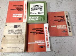 1979 Chevy Monte Carlo Camaro Nova Malibu Servicio Tienda Reparar Manual OEM GM - $79.15
