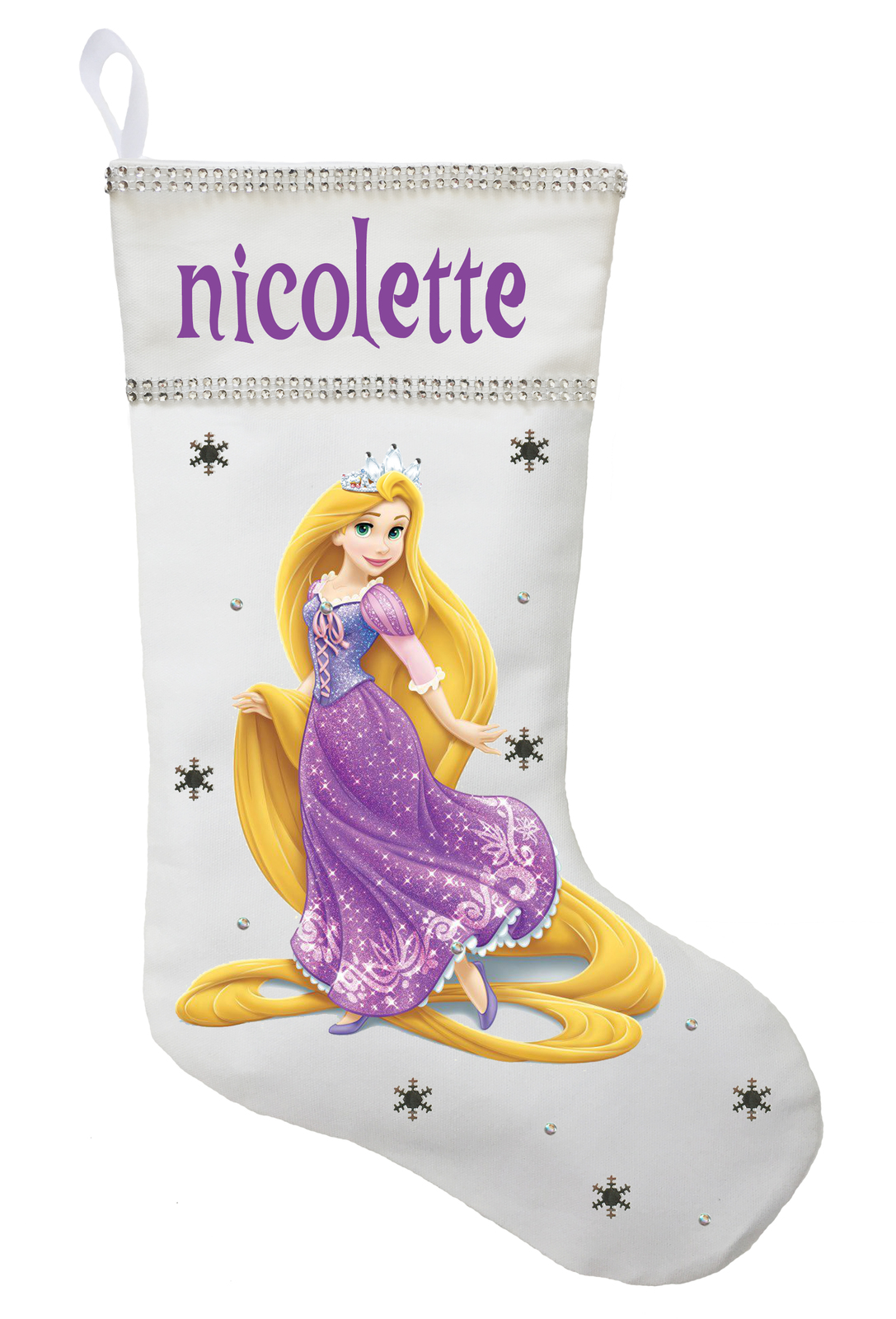 Rapunzel Christmas Stocking - Personalized and Hand Made Rapunzel Christmas Stoc