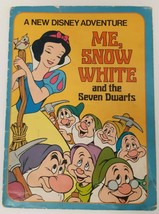 Me Snow White 7 Seven Dwarfs Disney Adventure Book Vtg Illustrated Personalized - $49.49