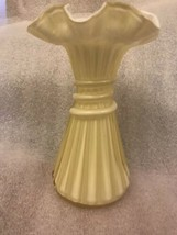 fenton yellow glass vase - $68.00