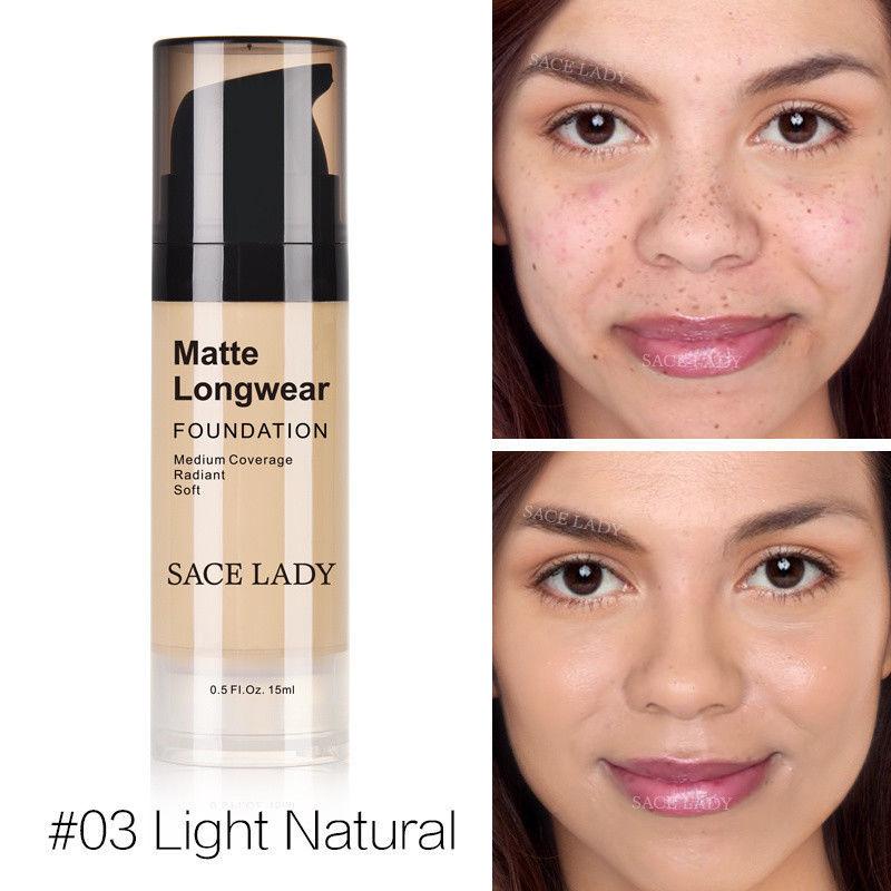 Foundation Base Makeup Professional Face Matte Finish Liquid Make Up Concealer image 2