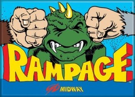 Midway Arcade Game Rampage Classic Name Logo Refrigerator Magnet NEW UNUSED - $3.99