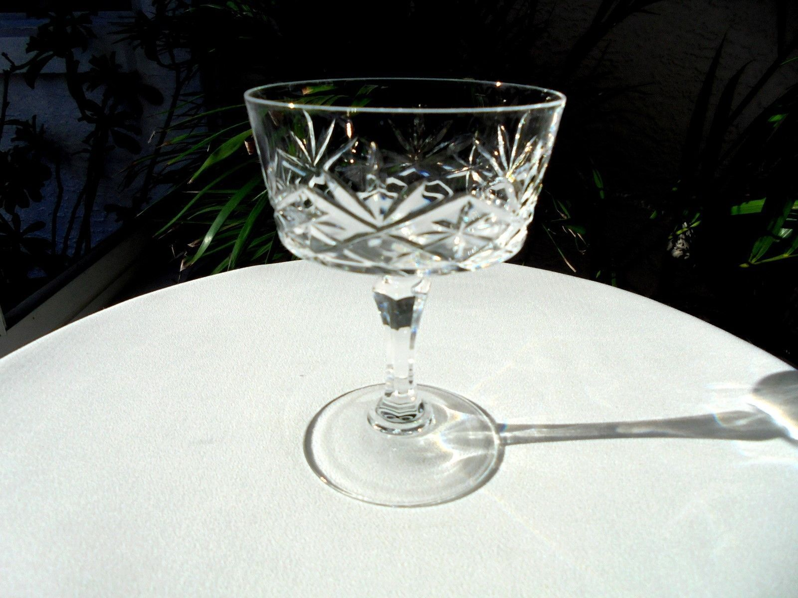 Cris D' Arques Crystal Chantilly Taille Beaugency Clear Champagne Glass - $7.92