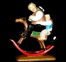 """Gramps at the Reins"" by Norman Rockwell Figurine AA19-1658  Vintage 1999"