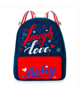 Disney Theme Parks Americana Laugh Love Mickey Mouse Icons Book Bag Back... - $34.64