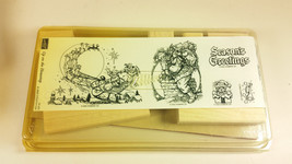 Stampin Up Up on the Housetop Christmas retired stamp set unmounted - $118.00