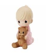 I Pray The Lord My Soul To Keep Precious Moments Figurine Girl Teddy Bear NWOB - $33.49
