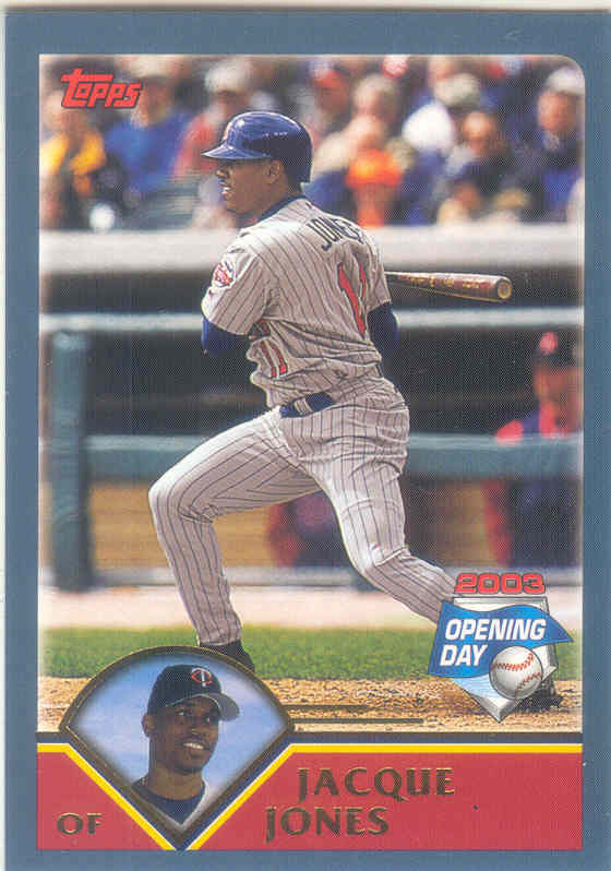 Jacque Jones ~ 2003 Topps Opening Day #101 ~ Twins