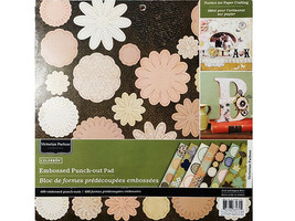 Colorbok Victorian Parlour 12x12 Embossed Punch-Out Cardstock Pad, 400 Pieces