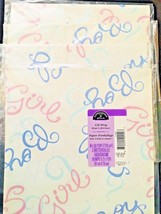 Vtg Expressions Hallmark Wrapping Paper Baby Shower Gift Wrap Girl Boy L... - $17.81