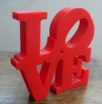 "4"" LOVE SIGN HOME DECOR WALL ART SCULPTURE STATUE 3D PRINTED CHOOSE A CO... - $10.45"