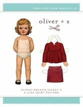 Oliver + S Girls Sunday Jacket Coat & Skirt Pattern 6mo-3T  (Oliver+S-OS... - $15.95