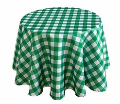 Biscaynebay Printed Checkered Fabric Table Cloth, Water Resistant Spill ... - $15.95