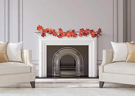 CraftMore Fiery Maple Fall Leaf Garland 6' image 5