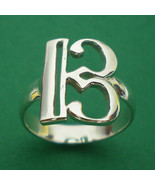 Alto Clef C Music Note Silver Charm Ring Band Size Selectable US 3 - 13 - $29.00