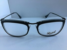 New Persol 3083-V 104 Black 53mm Rx Eyeglasses Frame Hand Made in Italy  - $79.99