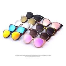 Retro UV400 2017 Brand Designer Fashion Cat Eye Sunglasses Women Mirror ... - $12.98