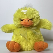 "Duck Plush Stuffed Animal Toy Ribbon Polka Dots Yellow Orange 10"" Tall S... - $21.78"