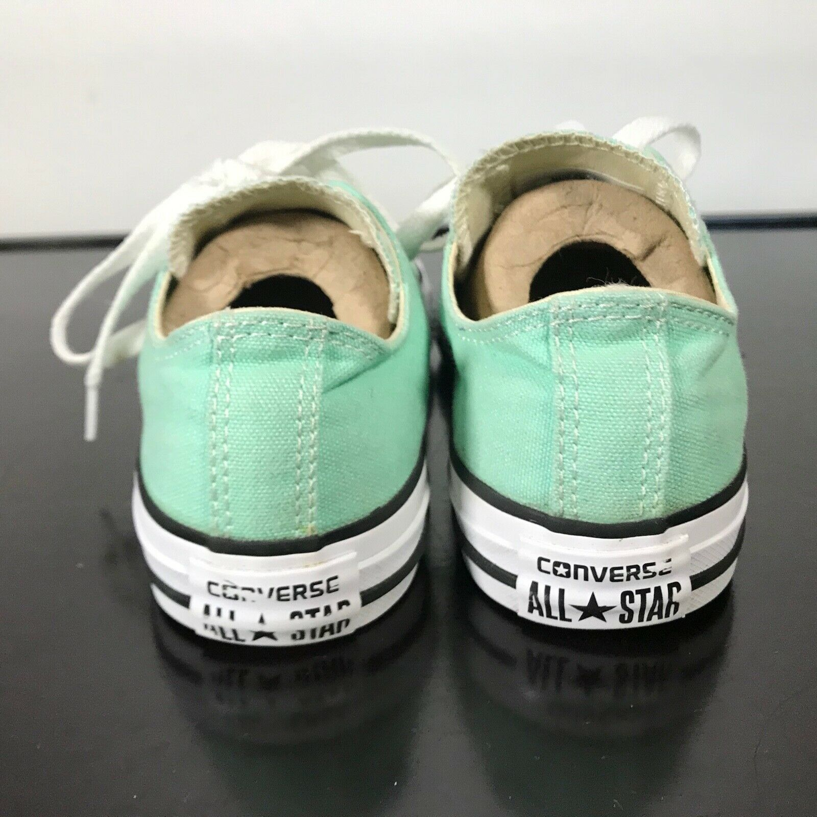 Converse All Star Chuck Taylor-  youth Sz 3,  Mint Green canvas shoes. Nice! image 4
