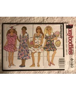 Butterick Busybodies 6180 Sewing Pattern Girls Dress and Jumpsuit, Size ... - $7.50