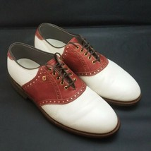 FOOTJOY Classics Mens Burgundy Saddle Golf Shoes Mens Size 7.5 D Vintage - $99.87