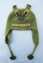 Perika of Peru Green Ears Animal Hat Acrylic Knit Women's Med or Large Y... - $14.24