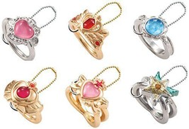 Pretty Soldier Sailor Moon die-cast ring charm [ 6 types set] - $27.02