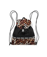 Victoria's Secret PINK Campus Drawstring Backpack with Flap Leopard - $93.00
