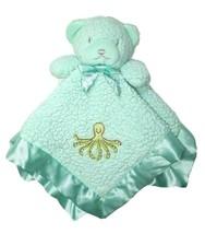 TIDDLIWINKS Green Sherpa Bear Security Blanket Rattle Lovey OCTOPUS Sati... - $16.55