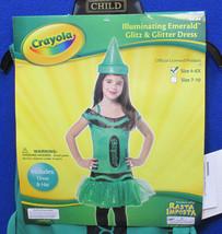 Crayola Color Crayon Costume Illuminating Emerald Halloween Outfit Size 4 - 6 - $14.84