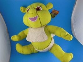 """Adorable 10"""" Sitting With Diaper & Bib  Dreamworks  Shrek The 3rd Mint with Tag - $8.61"""