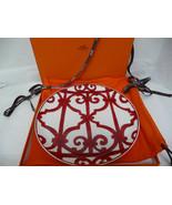 """Hermes Red Balcon du Guadalquivir Tart Tray 12.5"""" NEW - $539.00"""