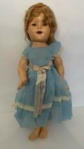 """Vintage Shirley Temple 18"""" 1930s Composition Doll Ideal Toy As Is Condition - $83.22"""