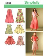 Simplicity Pattern 4188 Misses Skirts with Length Variations and Belt Si... - $13.23