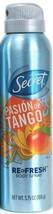 1 Secret Pasion de Tango Re Fresh Body Spray 3.75 oz - $14.99
