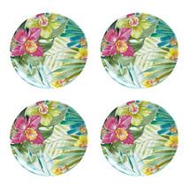 "Maui Melamine 9"" Salad Plates Tropical Set of 4 Coastal Living Beach House - $799,34 MXN"