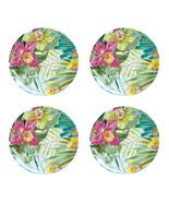 "Maui Melamine 9"" Salad Plates Tropical Set of 4 Coastal Living Beach House - $39.48"