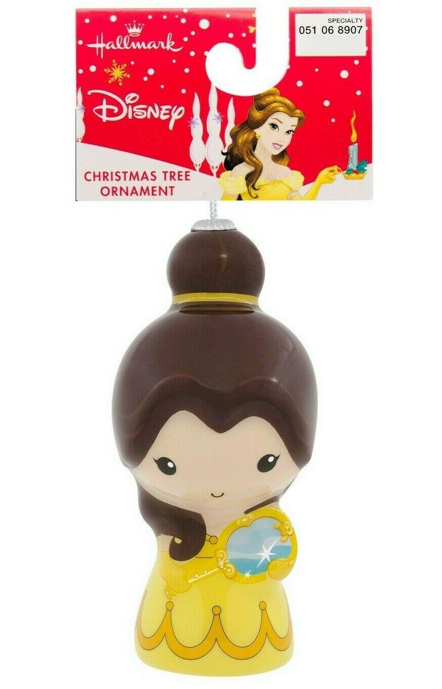 Hallmark Disney Beauty and the Beast Belle Decoupage Christmas Ornament NWT