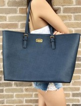 Michael Kors Jet Set Carryall Tote Navy Saffiano Leather - $149.99