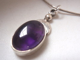 New AMETHYST 925 Sterling Silver Necklace best offer - $26.72