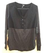 Calvin Klein Jeans Women's Steel Heather 029 Long Sleeve Shirt - Size L - $20.19