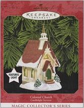 Hallmark Colonial Church Candlelight Services Keepsake Light Up Ornament... - $24.99