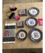 Sweet 16 Party Supplies LOT Birthday Supplies LOT - $45.00