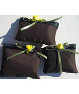 (2) handmade Miniature Pillows fluffy to the touch,embellished with ribbon  - $5.96